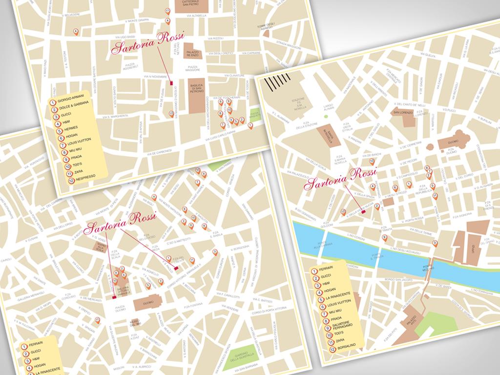 Sartoria Rossi Shopping Map