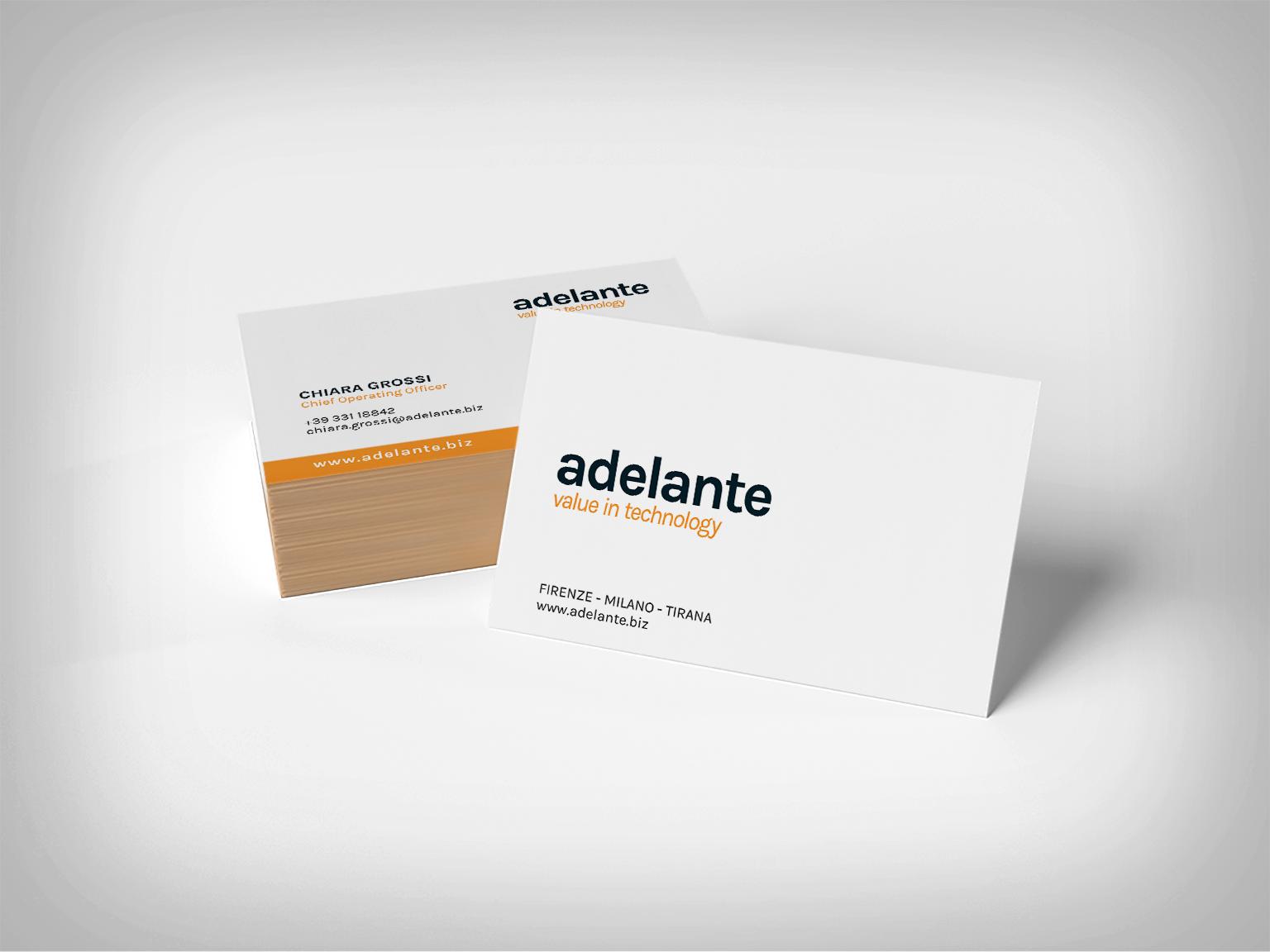 Adelante – Business card